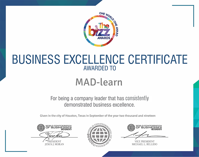 MAD-learn Bizz Award